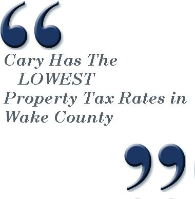 True or False, the Town of Cary has the Highest Property Tax Rate in Wake County.
