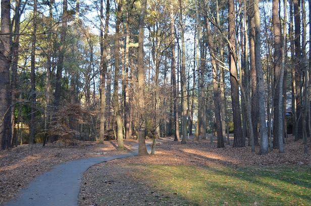 cary home for sale greenway walking trail