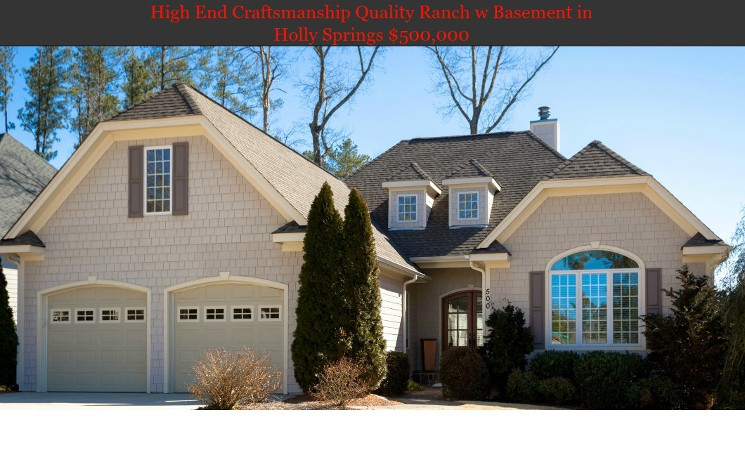 Holly Springs Home For Sale