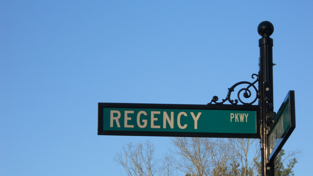 105 Tattenhall Regency Neighborhood Street Sign