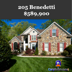 205 Benedetti Cary Home For Sale Marketed by Cary Real Estate