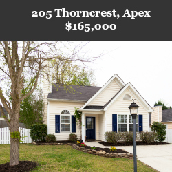 205 Thorncrest Apex NC Home For Sale